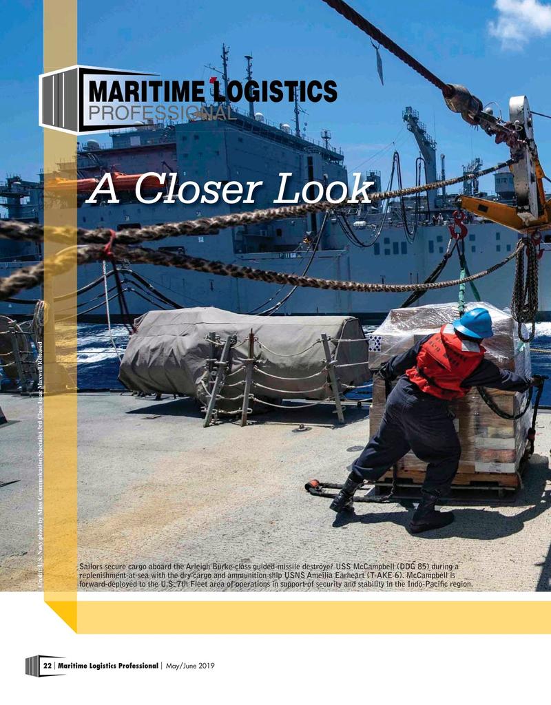 Maritime Logistics Professional Magazine, page 22,  May/Jun 2019