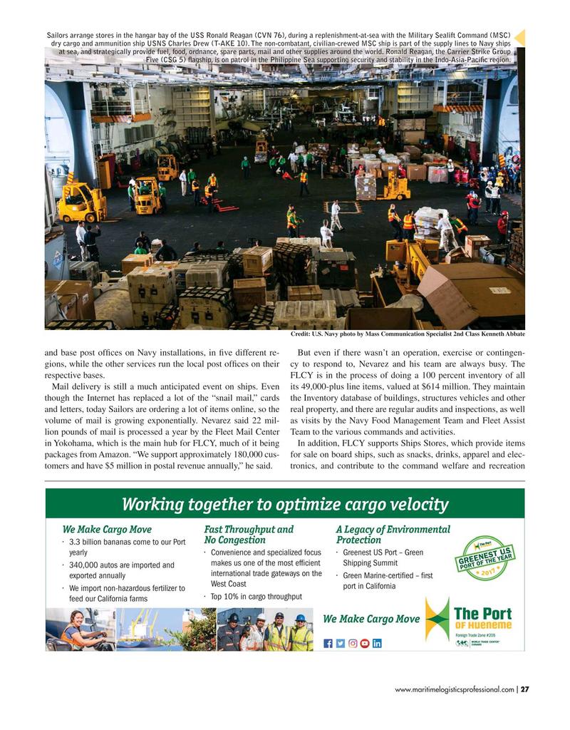 Maritime Logistics Professional Magazine, page 27,  May/Jun 2019