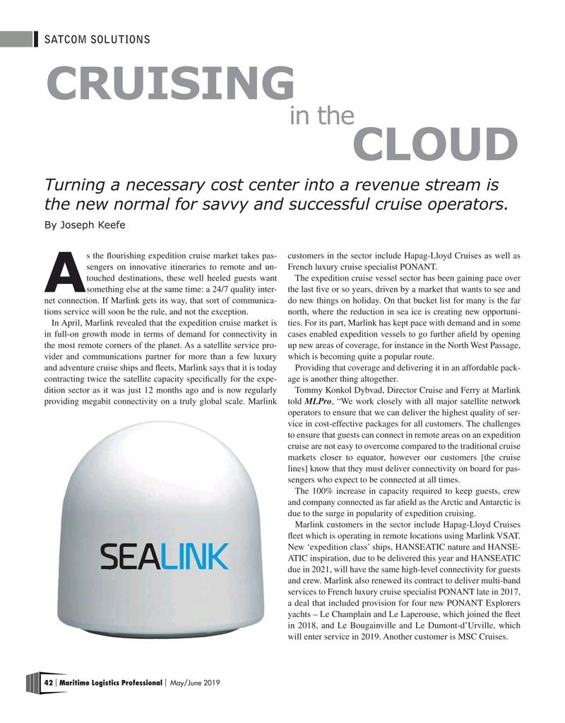 Maritime Logistics Professional Magazine, page 42,  May/Jun 2019