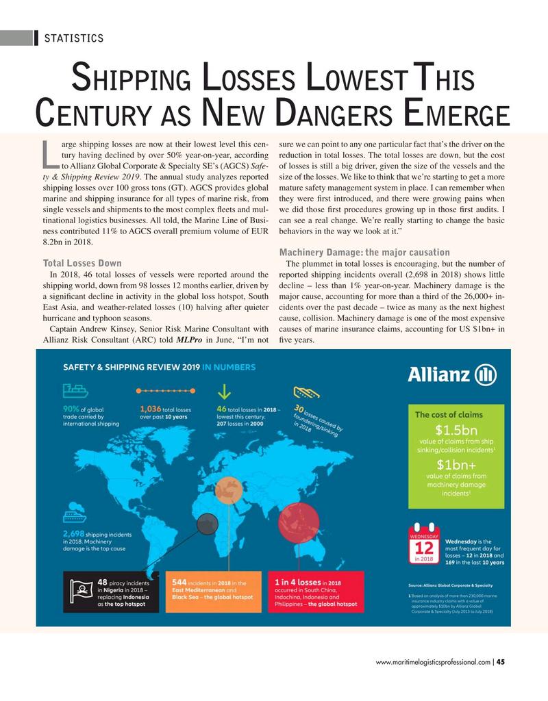 Maritime Logistics Professional Magazine, page 45,  May/Jun 2019