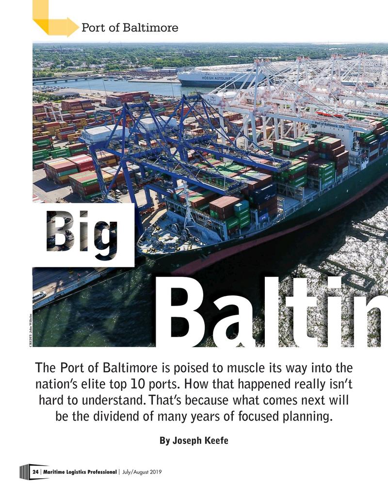 Maritime Logistics Professional Magazine, page 24,  Jul/Aug 2019