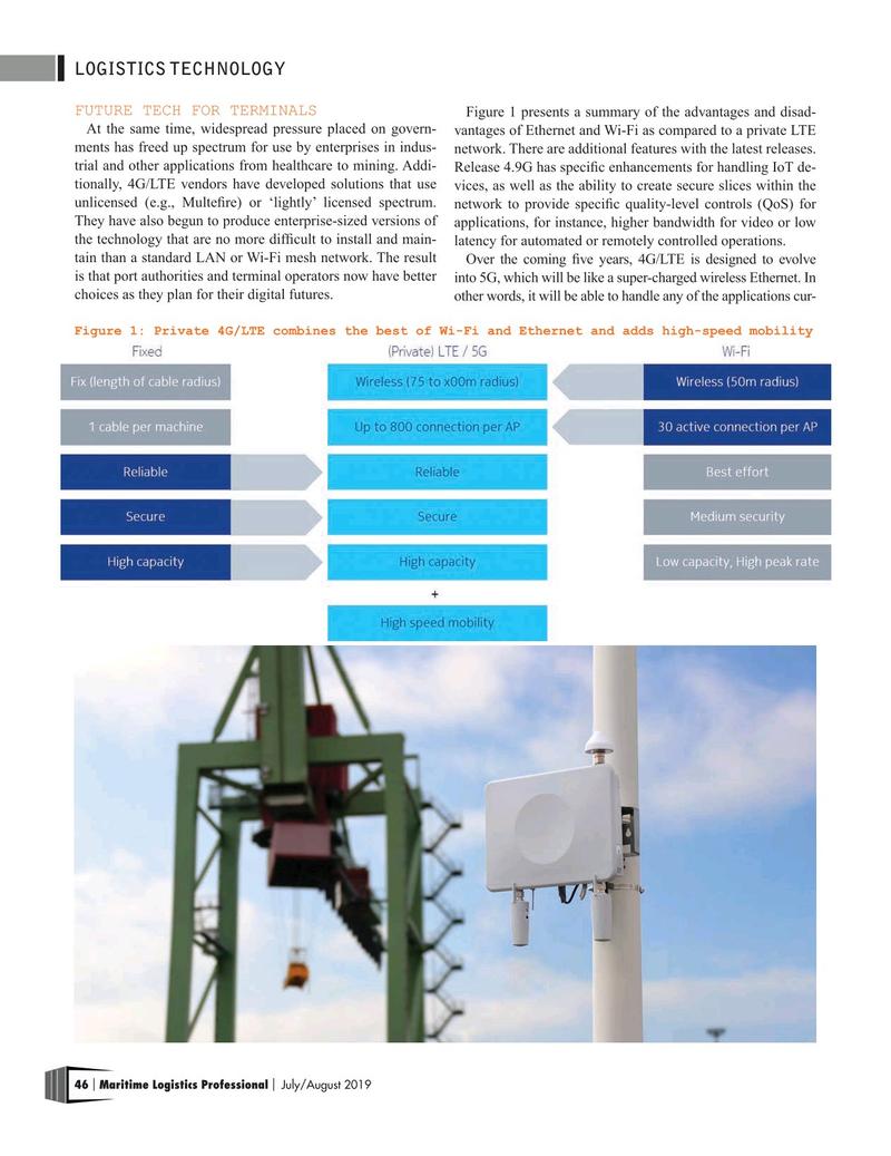 Maritime Logistics Professional Magazine, page 46,  Jul/Aug 2019