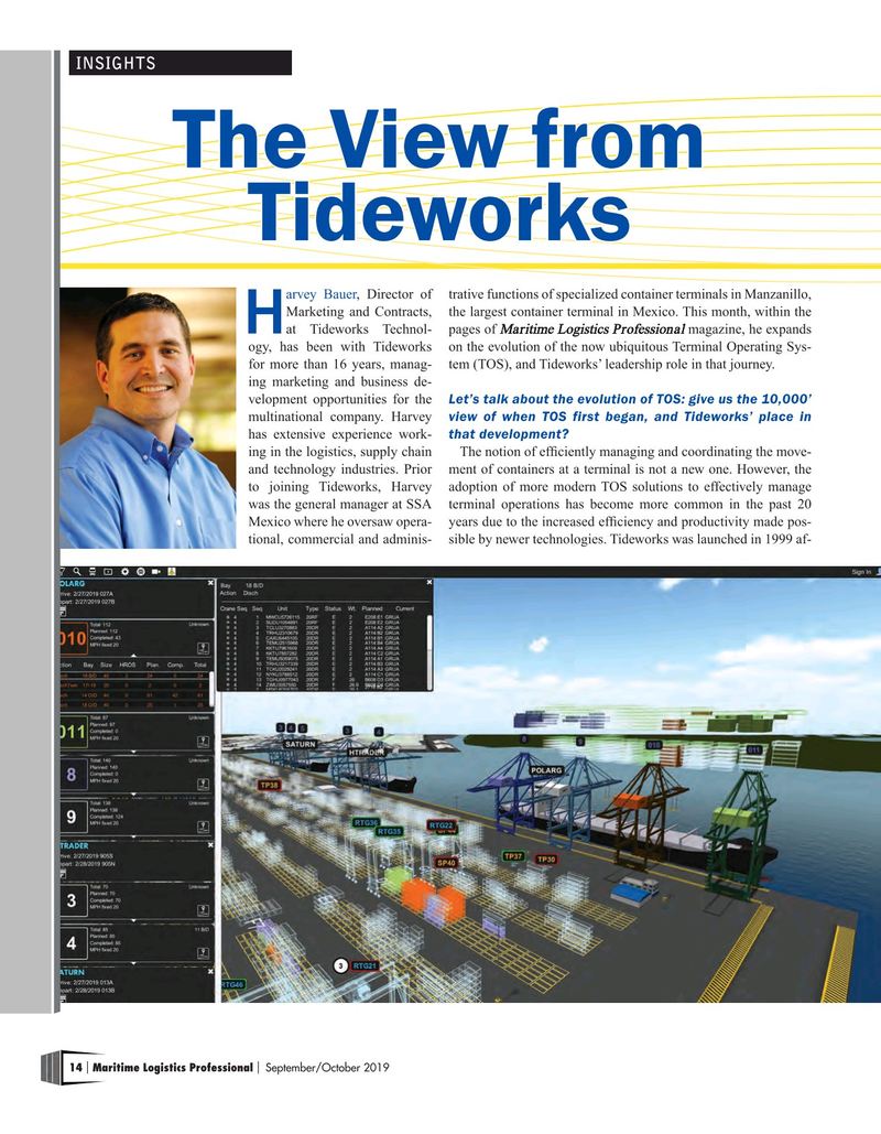 Maritime Logistics Professional Magazine, page 14,  Sep/Oct 2019