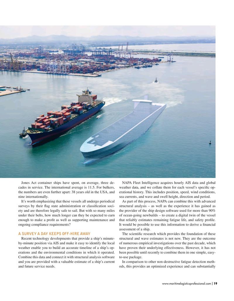 Maritime Logistics Professional Magazine, page 19,  Sep/Oct 2019