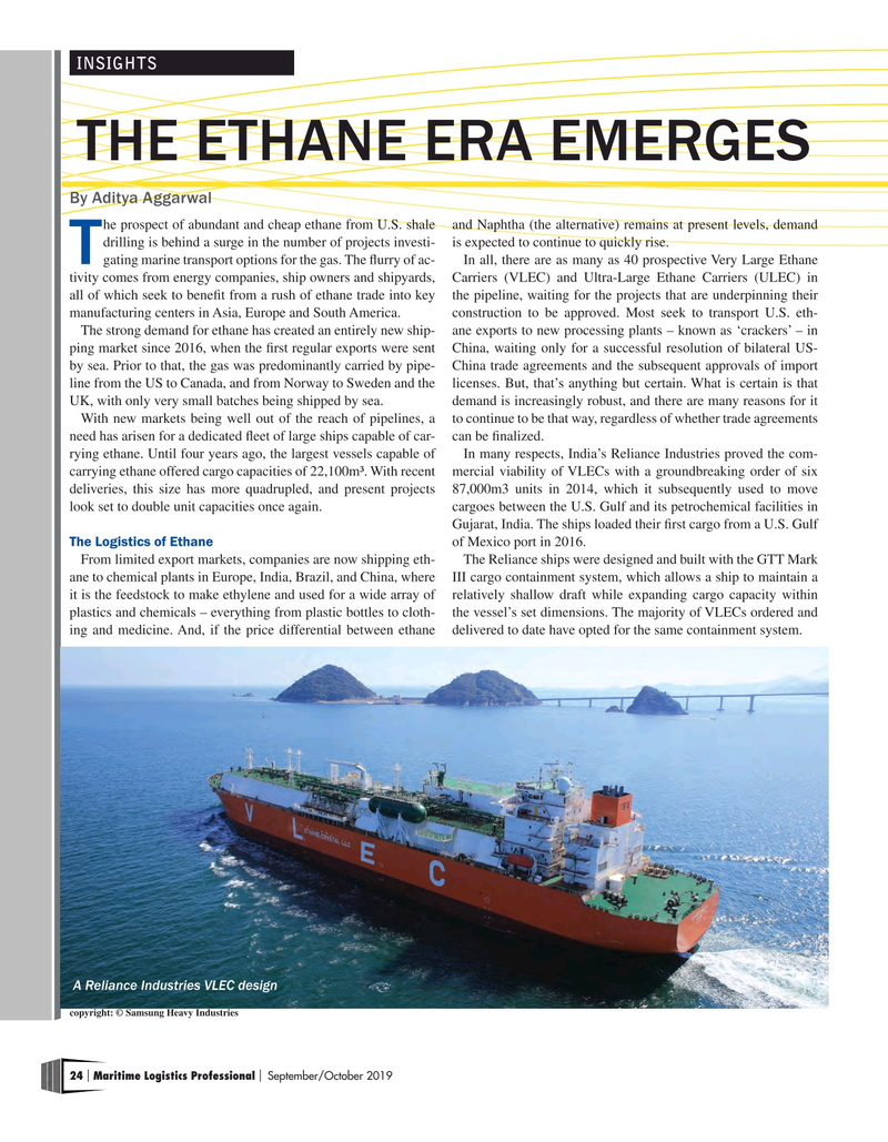 Maritime Logistics Professional Magazine, page 24,  Sep/Oct 2019