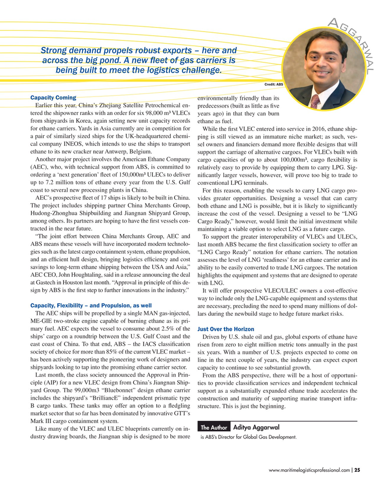 Maritime Logistics Professional Magazine, page 25,  Sep/Oct 2019