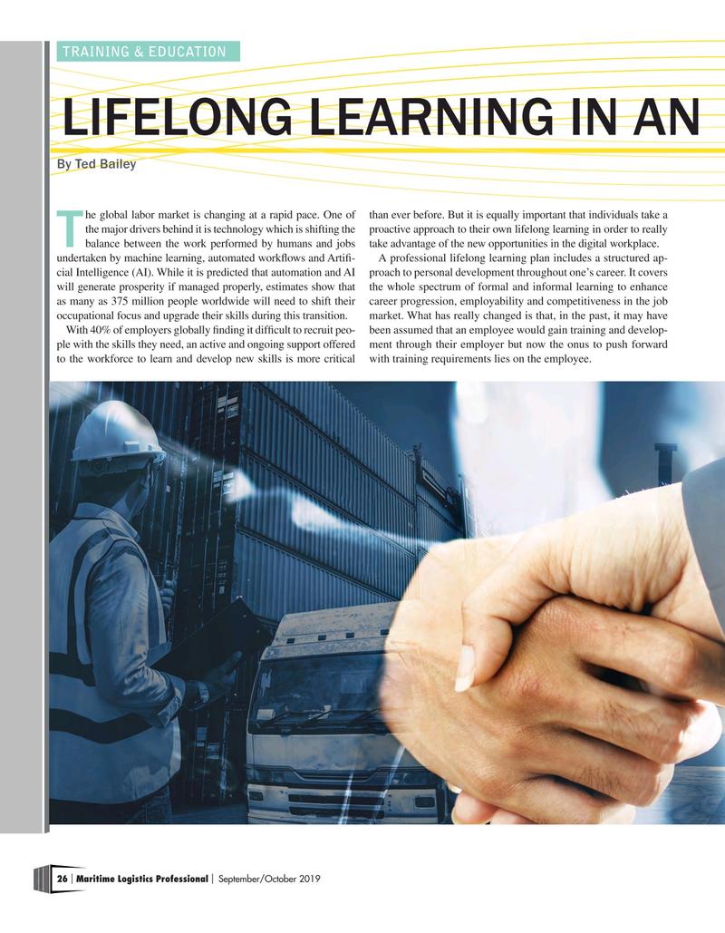 Maritime Logistics Professional Magazine, page 26,  Sep/Oct 2019