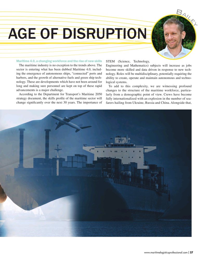 Maritime Logistics Professional Magazine, page 27,  Sep/Oct 2019