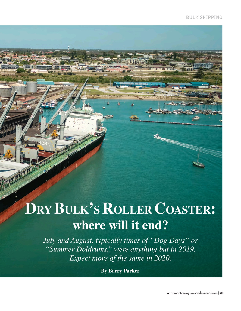 Maritime Logistics Professional Magazine, page 31,  Sep/Oct 2019