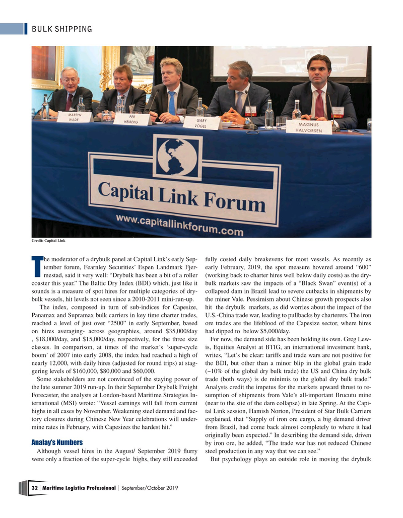 Maritime Logistics Professional Magazine, page 32,  Sep/Oct 2019