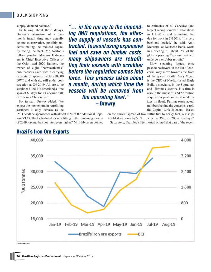 Maritime Logistics Professional Magazine, page 34,  Sep/Oct 2019