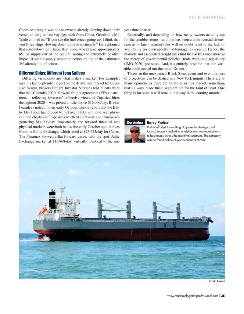 Maritime Logistics Professional Magazine, page 35,  Sep/Oct 2019