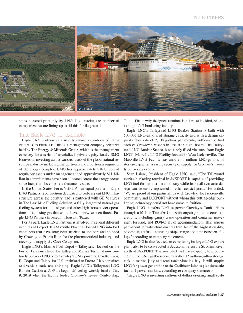 Maritime Logistics Professional Magazine, page 37,  Sep/Oct 2019