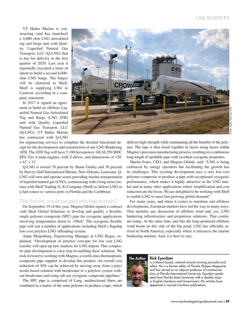 Maritime Logistics Professional Magazine, page 39,  Sep/Oct 2019