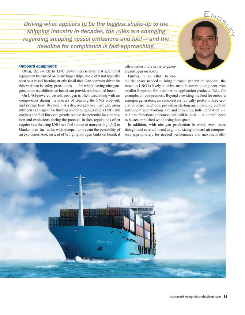 Maritime Logistics Professional Magazine, page 15,  Nov/Dec 2019
