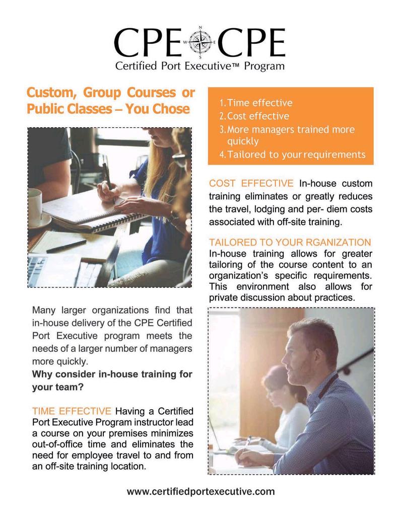Maritime Logistics Professional Magazine, page 23,  Nov/Dec 2019