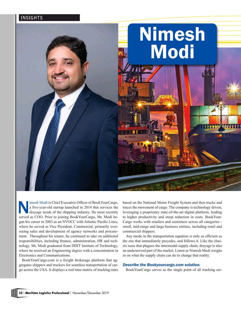 Maritime Logistics Professional Magazine, page 32,  Nov/Dec 2019