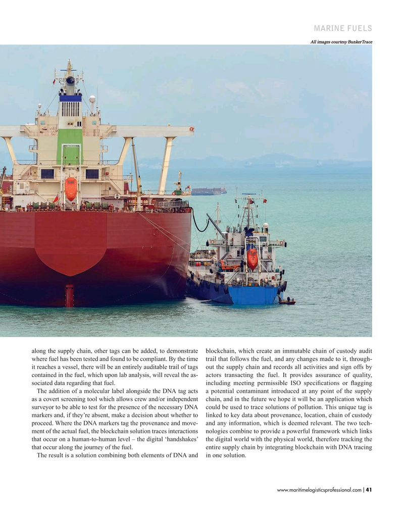 Maritime Logistics Professional Magazine, page 41,  Nov/Dec 2019