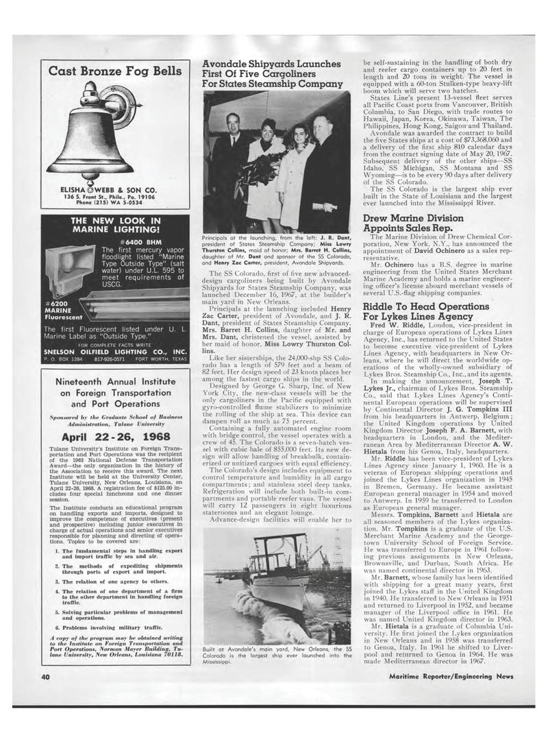 37 Maritime Reporter Magazine page 38 Feb 1968 Idaho ...  sc 1 st  Maritime Magazines & Mediterranean Maritime Reporter Magazine February 1968 #38