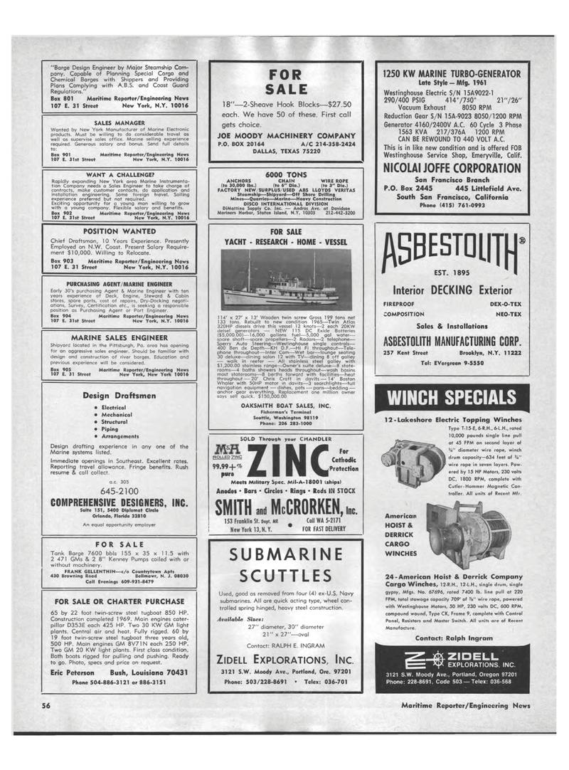 Washington, Maritime Reporter Magazine September 1969 #54