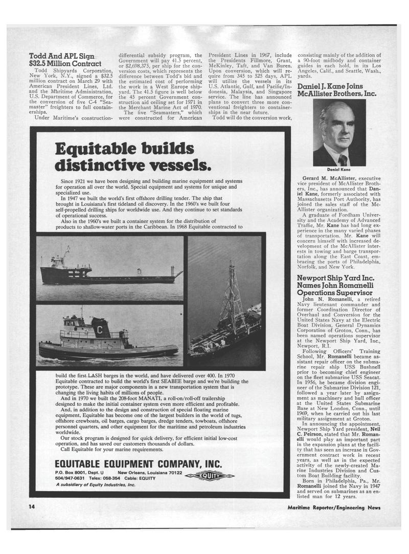 Maritime Reporter Magazine, page 12,  Apr 15, 1971 California