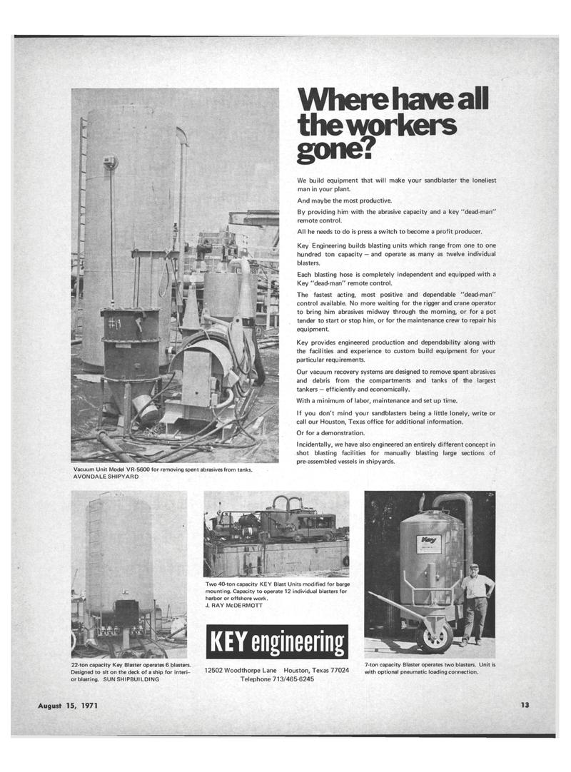 Maritime Reporter Magazine, page 11,  Aug 15, 1971