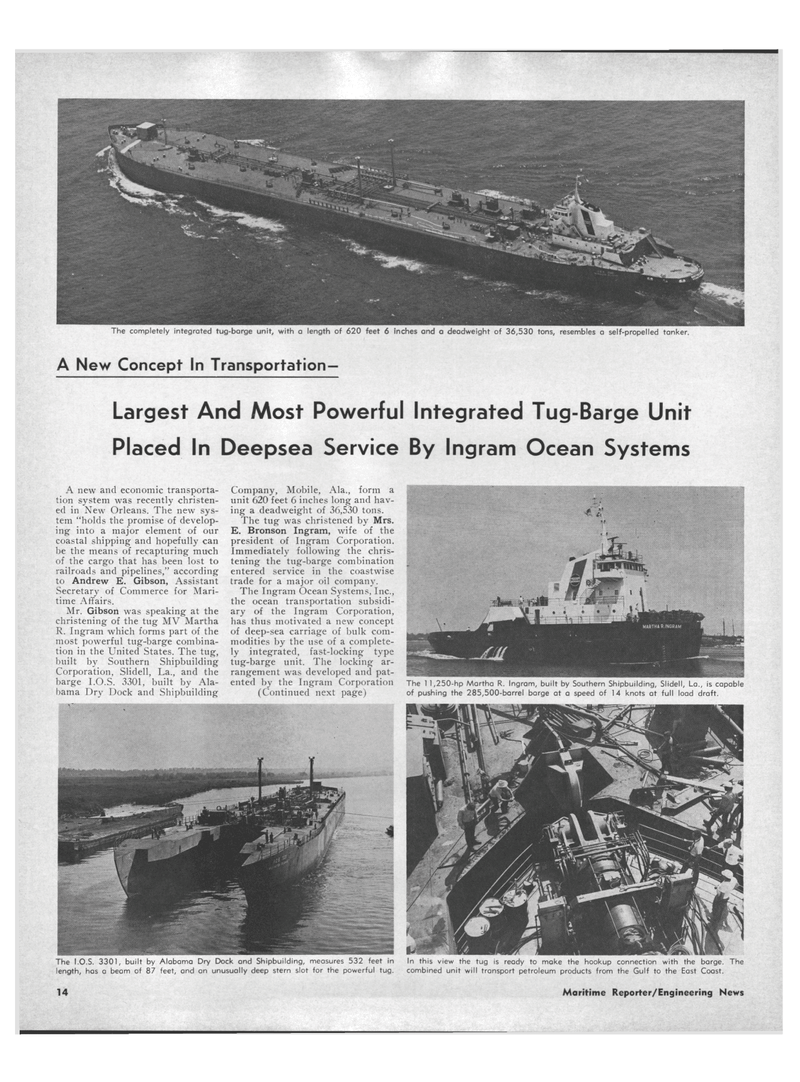 Maritime Reporter Magazine, page 12,  Aug 15, 1971