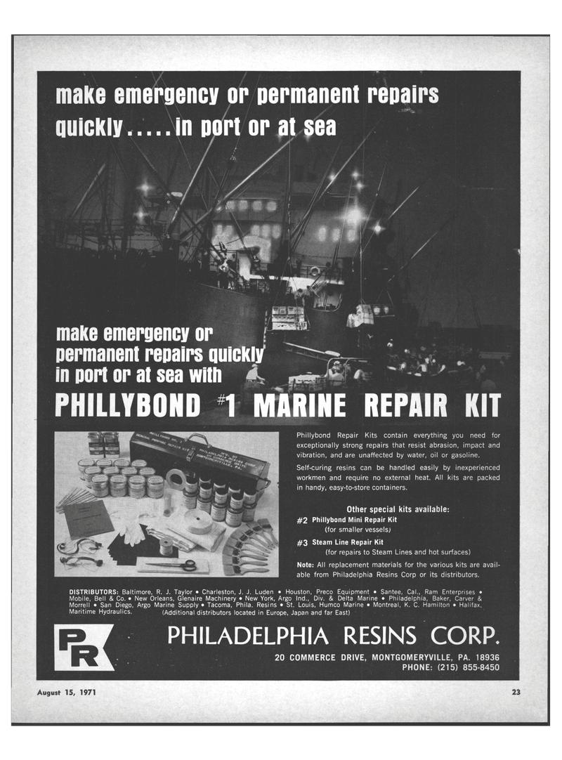 Maritime Reporter Magazine, page 21,  Aug 15, 1971