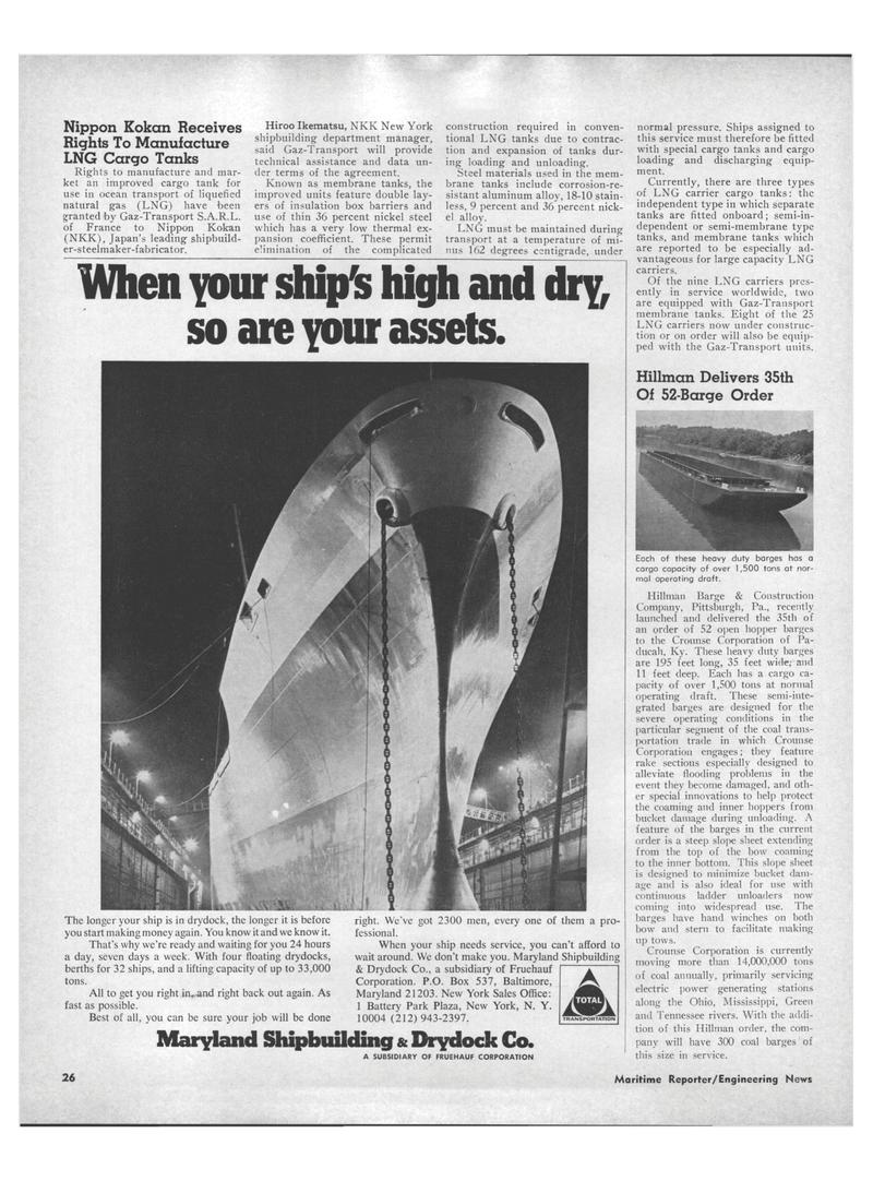 Maritime Reporter Magazine, page 24,  Aug 15, 1971 Pennsylvania