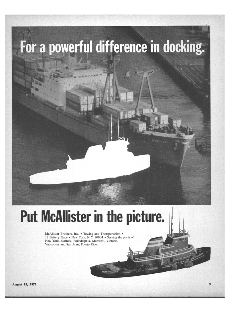 Maritime Reporter Magazine, page 1,  Aug 15, 1971 Puerto Rico