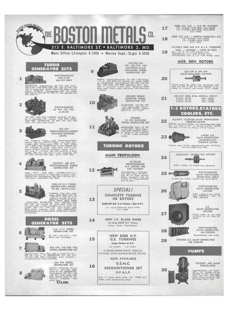Maritime Reporter Magazine, page 28,  Aug 15, 1971