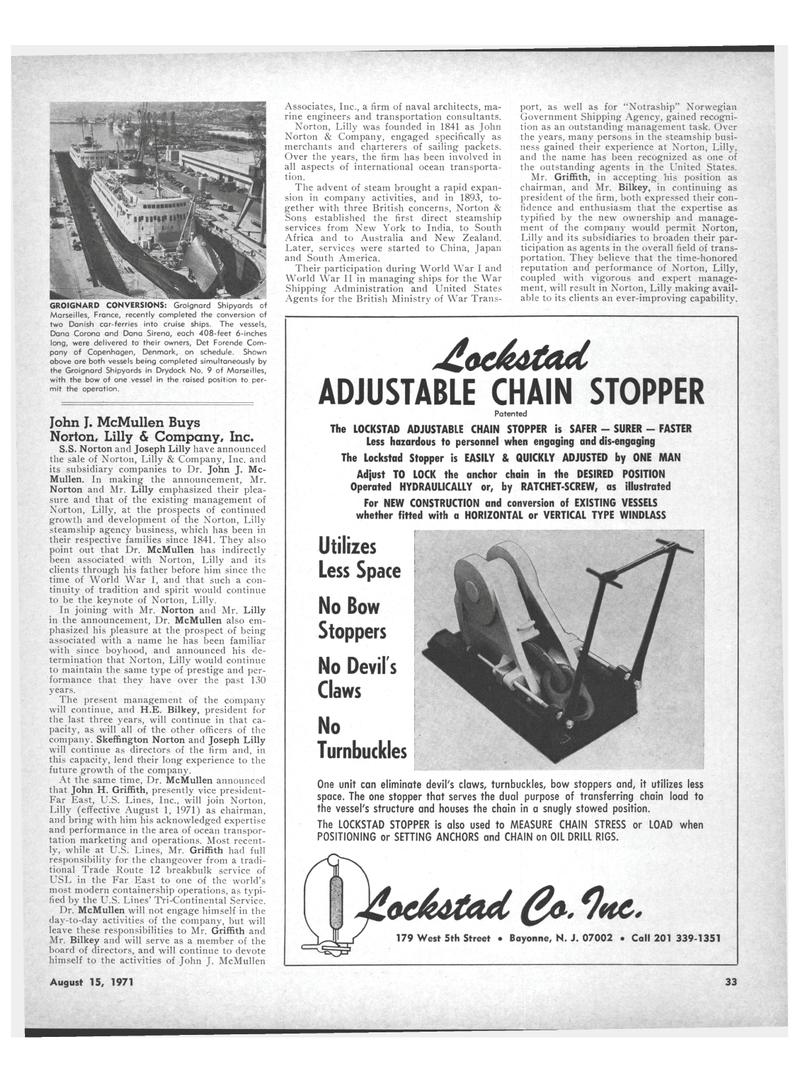 Maritime Reporter Magazine, page 31,  Aug 15, 1971