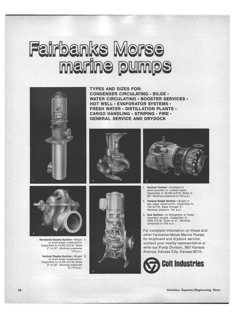 Maritime Reporter Magazine, page 34,  Aug 15, 1971 EVAPORATOR SYSTEMS