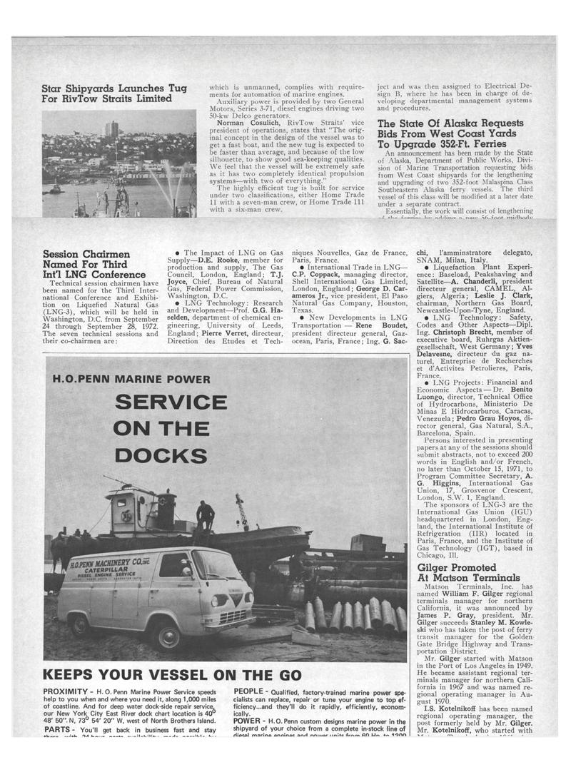 Maritime Reporter Magazine, page 4th Cover,  Aug 15, 1971
