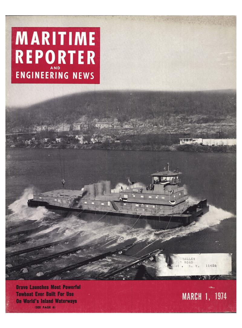Maritime Reporter Magazine Cover Mar 1974 -