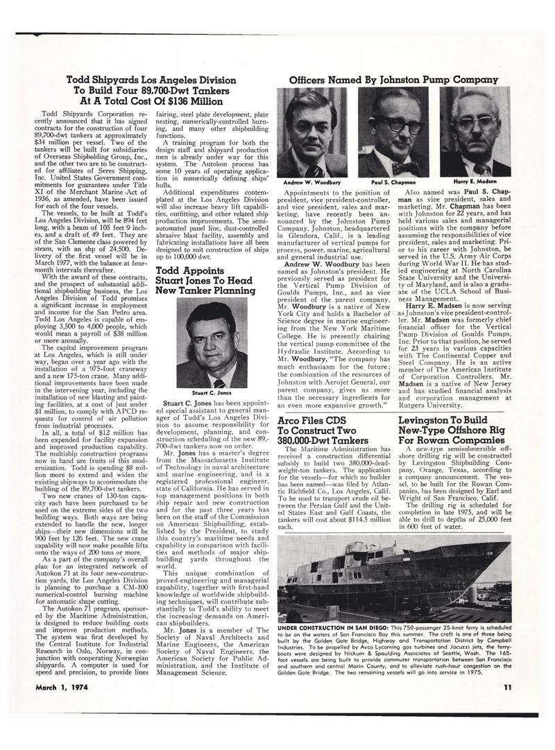 Maritime Reporter Magazine, page 9,  Mar 1974 North Carolina