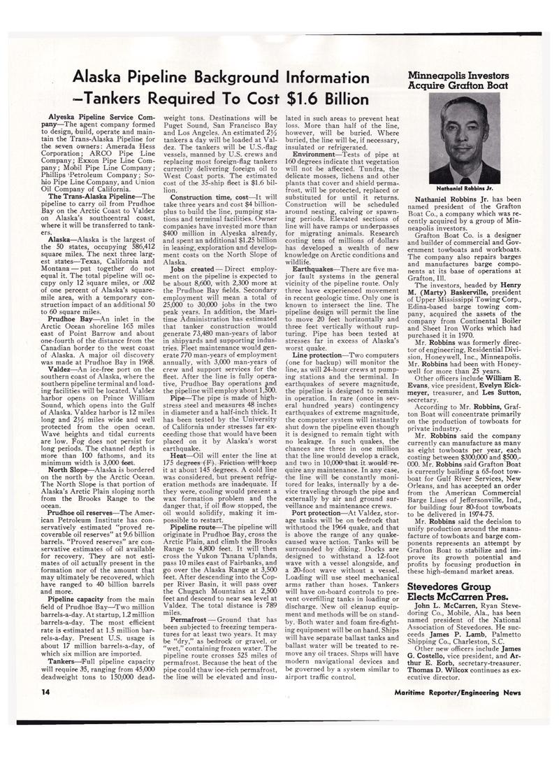 Maritime Reporter Magazine, page 12,  Mar 1974