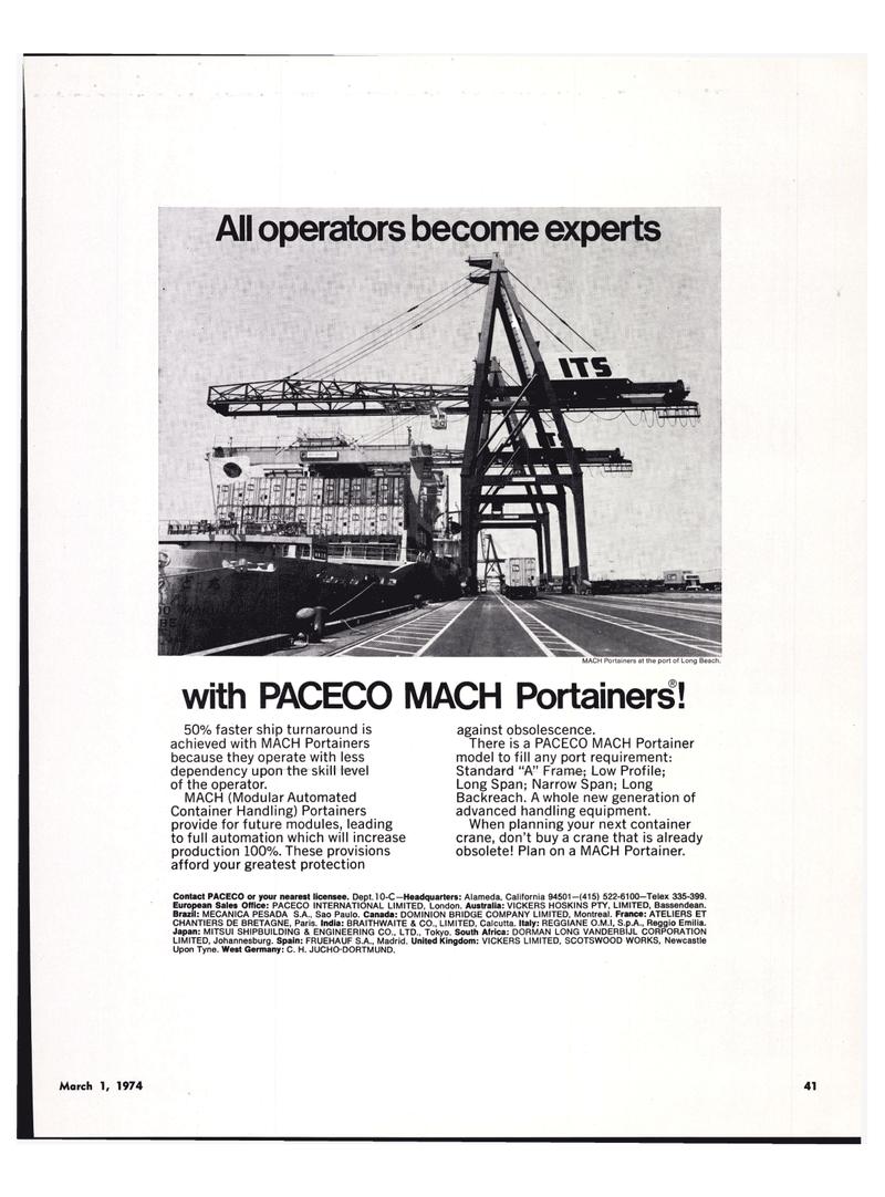 Maritime Reporter Magazine, page 37,  Mar 1974 India