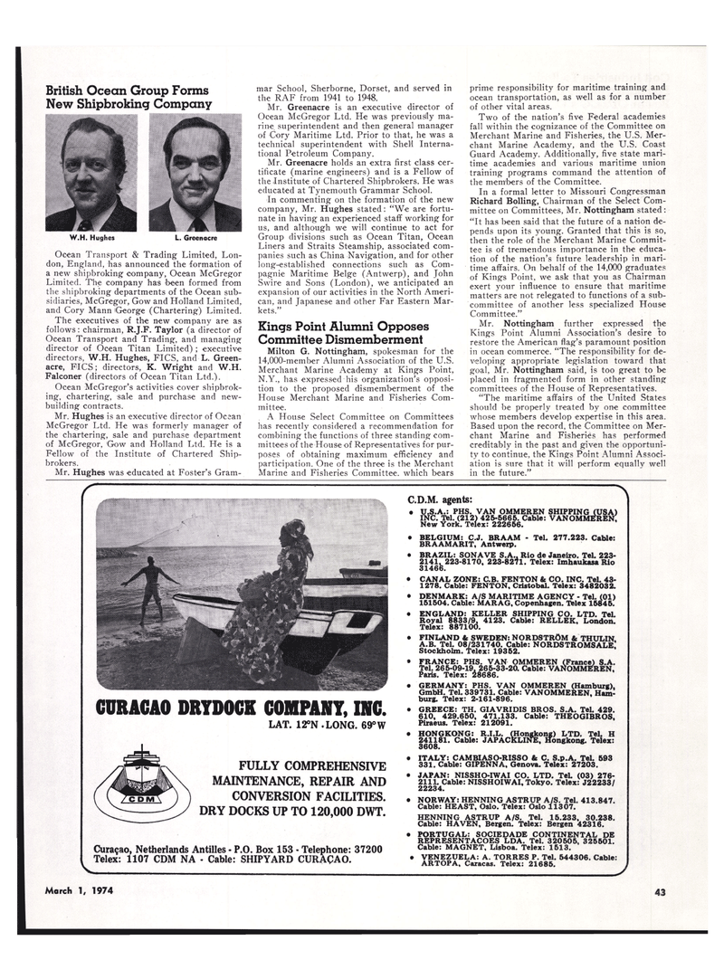 Maritime Reporter Magazine, page 39,  Mar 1974 R.J.F. Taylor