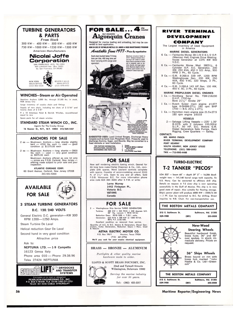Maritime Reporter Magazine, page 48,  May 15, 1977