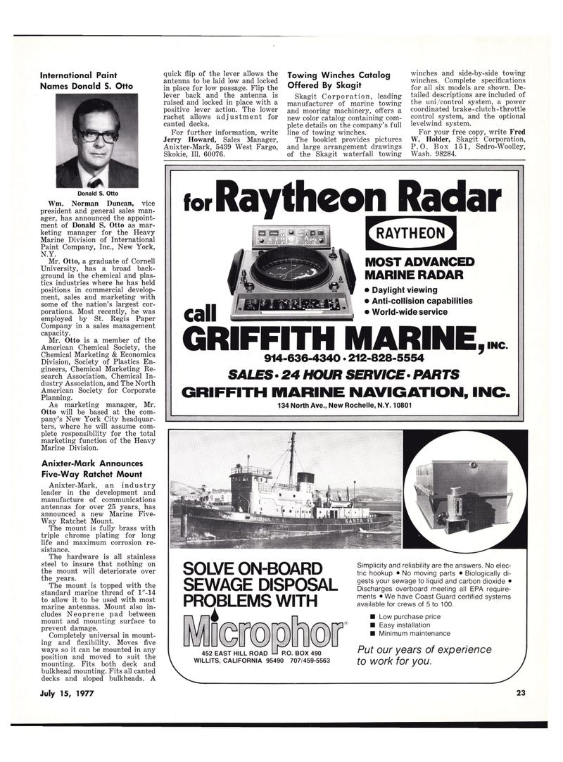 Maritime Reporter Magazine, page 21,  Jul 15, 1977