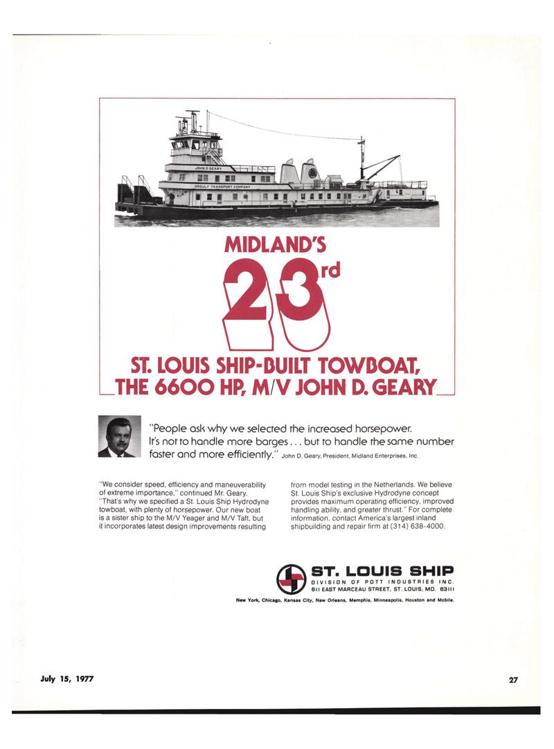 Maritime Reporter Magazine, page 25,  Jul 15, 1977