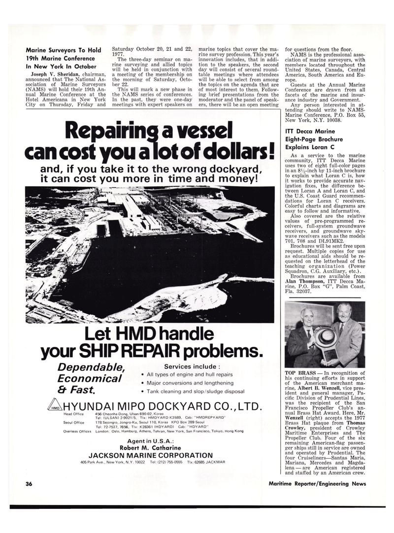 Maritime Reporter Magazine, page 4th Cover,  Jul 15, 1977
