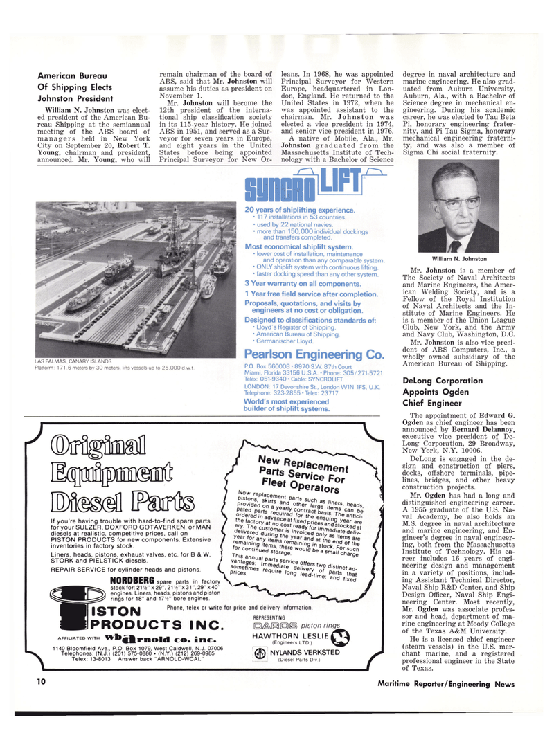 Maritime Reporter Magazine, page 8,  Oct 15, 1977