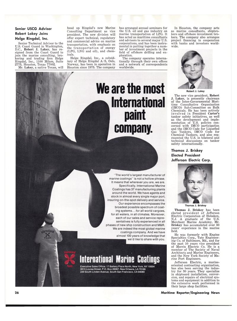 Maritime Reporter Magazine, page 24,  Oct 15, 1977