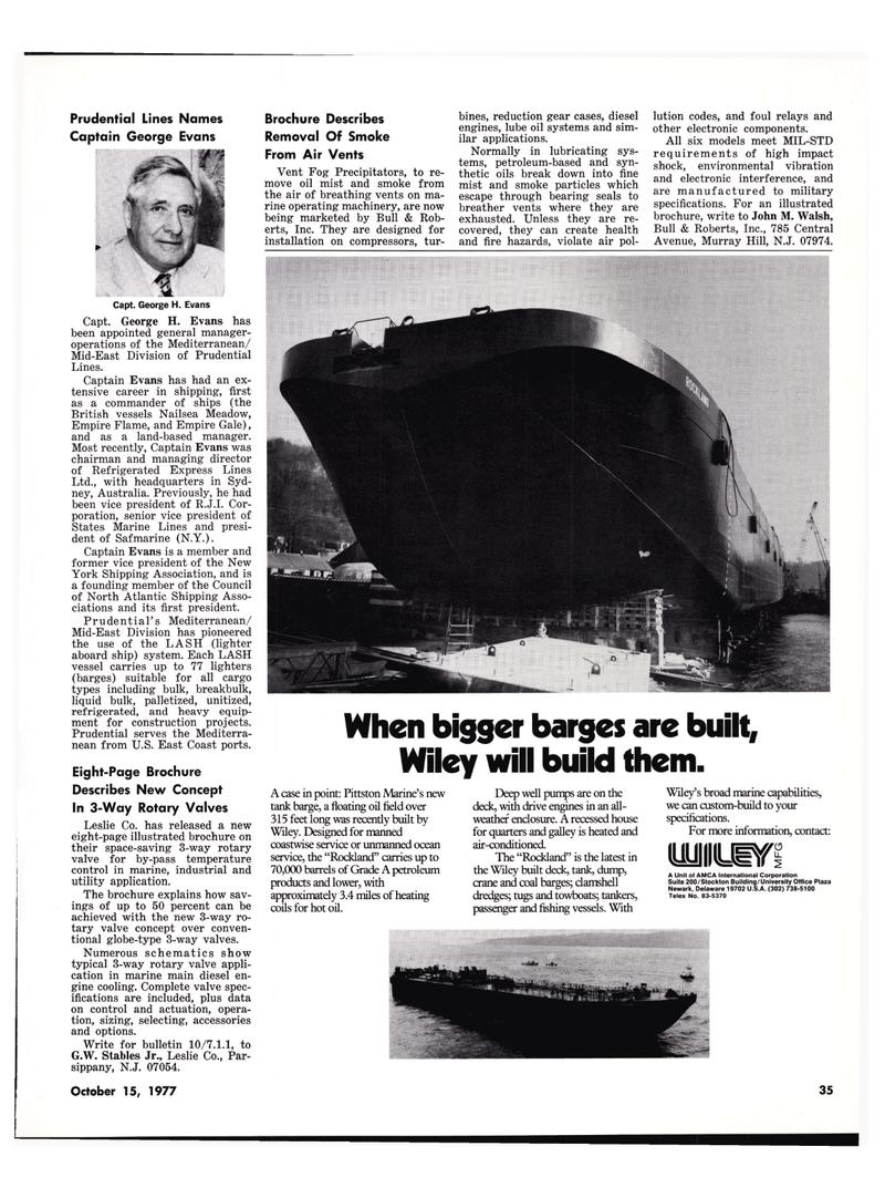 Maritime Reporter Magazine, page 33,  Oct 15, 1977