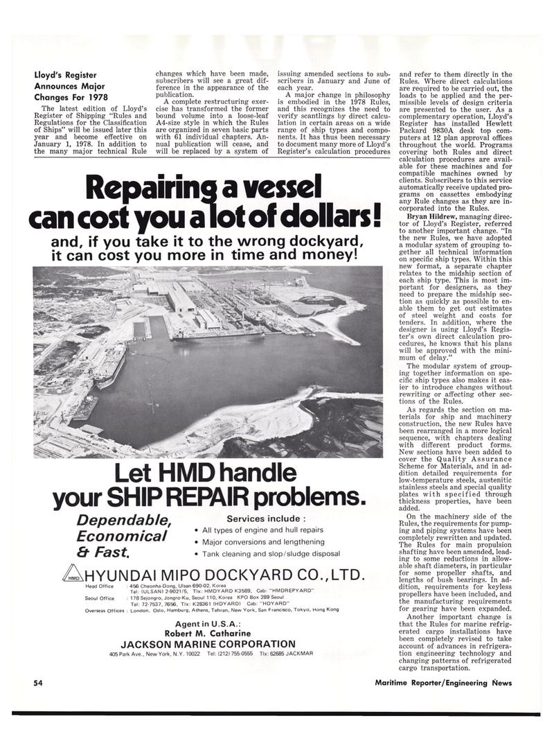 Maritime Reporter Magazine, page 50,  Oct 15, 1977