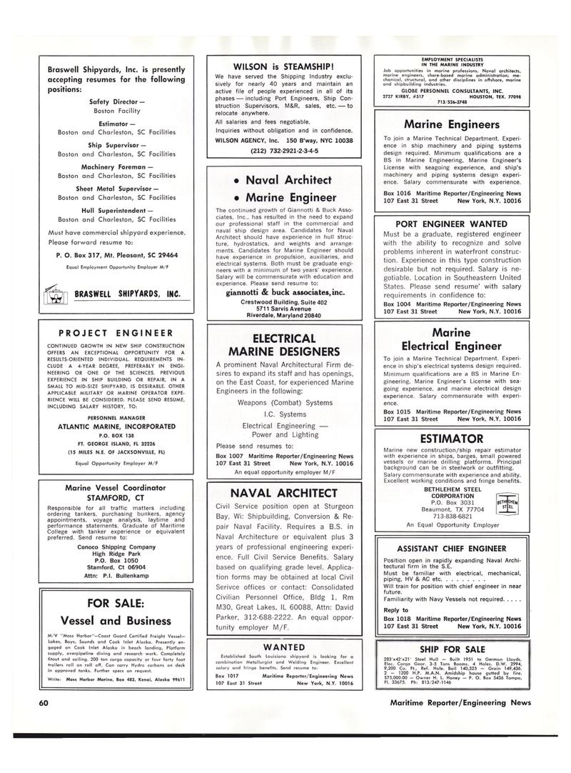 Maritime Reporter Magazine, page 56,  Oct 15, 1977