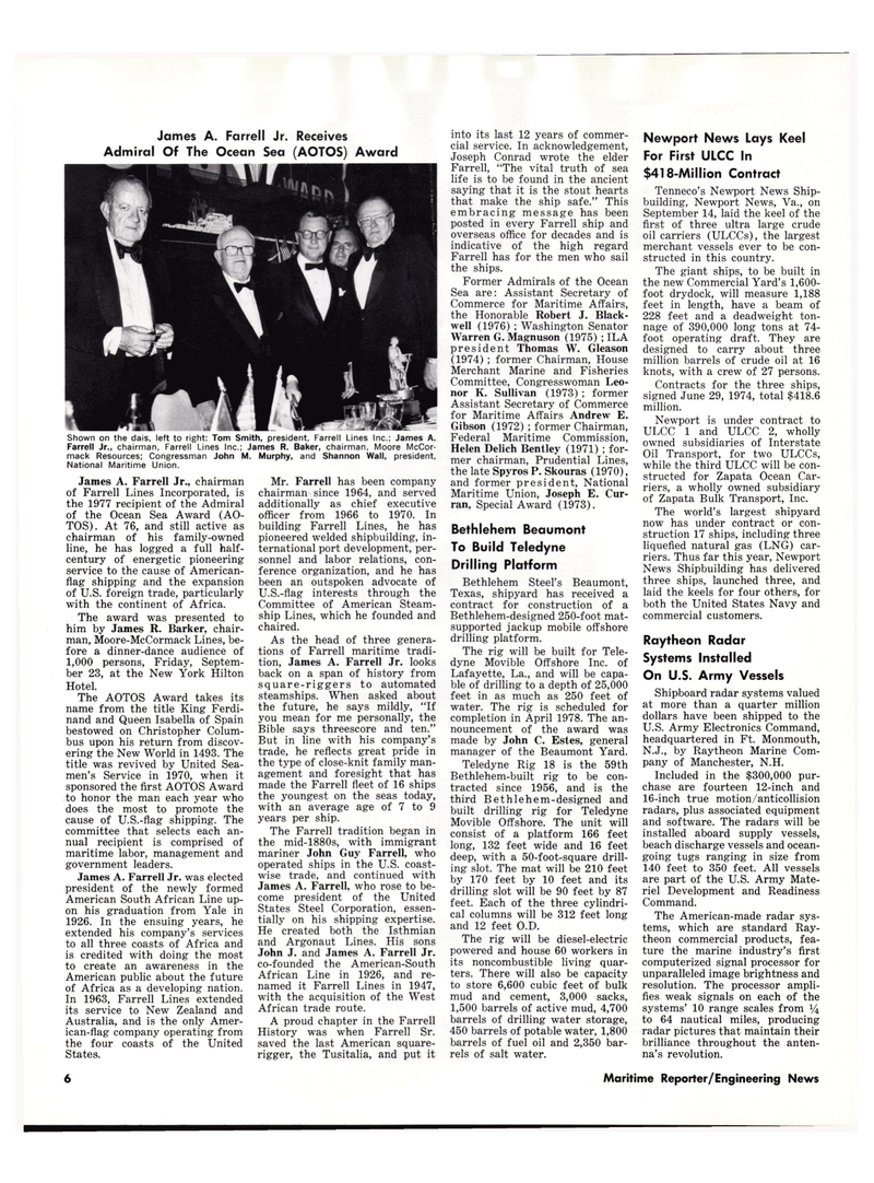 Maritime Reporter Magazine, page 4,  Oct 15, 1977