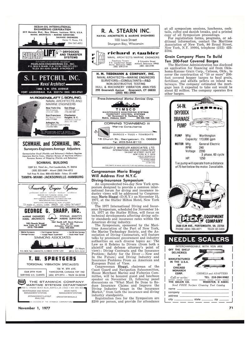 Maritime Reporter Magazine, page 71,  Nov 1977 Louisiana